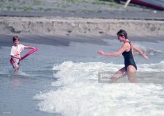 NevisStKitts January 3 1993 Princess Diana with Prince Harry on the island of Nevis in the...