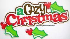 Acogedor Navidad Ratones juntar las piezas de papel de Scrapbook página Rhonda rm613art prefabricados