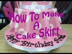 ▶ How To Make A Cake Skirt - YouTube