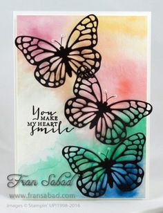 Timeless Love, Butterflies thinlits, watercolor background