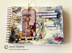 Astrid's Artistic Efforts: Life is always full of surprises... journal pages; Aug 2014