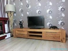 Tv stolky | (735) TOMANO - Velký dubový tv stolek | Designový nabytek