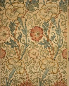 william morris | Made-by-William-Morris-Pink-and-Rose-Wallpaper-Design-ca-1890-painting ...