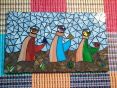 Los Tres Reyes Magos #M 21 Man Crafts, Arts And Crafts, 3 Reyes, Christmas Mosaics, Three Wise Men, Christmas Decorations, Christmas Ornaments, Christmas Projects, Mosaic Art