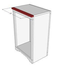 DIY Projects Wood Tilt Out Trash or Recycling Cabinet Woodworking Plans by Ana White Unique Woodworking, Woodworking Furniture, Furniture Plans, Diy Furniture, Woodworking Plans, Woodworking Projects, Woodworking Machinery, Ana White, Trash Can Cabinet