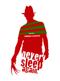 Nightmare on Elm Street poster.