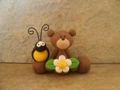 *POLYMER CLAY ~ Bear and Bumblebee.