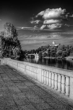 Torino e il Po Piedmont Italy, Turin Italy, Life Is An Adventure, Adventure Travel, Best Of Italy, Black And White Landscape, Belle Villa, Italian Beauty, Amazing Architecture