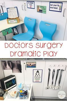 34 pages to print and use to set up a role play corner with doctors and nurses. This resource includes labels, signs, job role tags, x-rays and forms. Doctor Role Play, Playing Doctor, Dramatic Play Area, Dramatic Play Centers, Play Based Learning, Learning Through Play, Role Play Areas Eyfs, People Who Help Us, Community Helpers Preschool