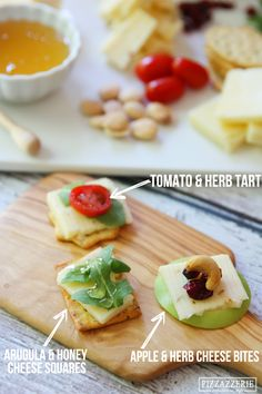 These don't look last minute. Which is exactly the idea! #cheese #party @Courtney Whitmore {Pizzazzerie.com}