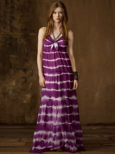 Silk and cotton maxi dress from Denim and Supply