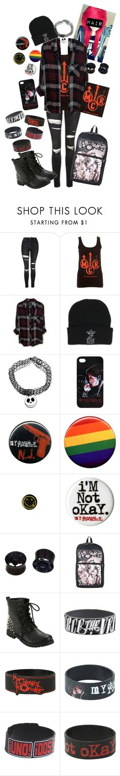"""""""Boy Division - My Chemical Romance"""" by chemicalfallout249 ❤ liked on Polyvore featuring Topshop, Rails and NOVICA"""