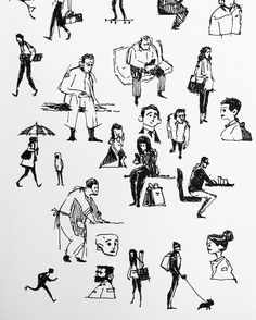 "154 Likes, 1 Comments - Ahmed Gamal (@artofahmedgamal) on Instagram: ""Morning subway sketches #characterdesign #gesturedrawing #newyork"""