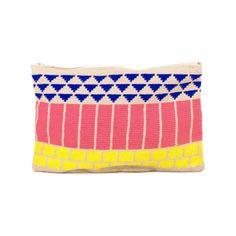BAYONNE - Azul & Rosa Tapestry Crochet, Crochet Purses, Weaving, Handbags, Clutches, Wallets, Patterns, Handmade Handbags, Hand Made