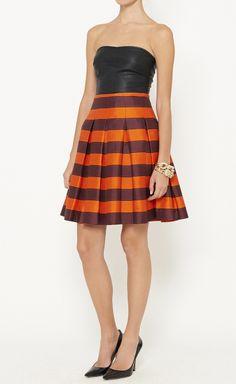 Burnt Orange And Black Skirt