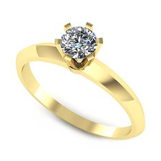 Inelul este format din:  * Piatra principala: 1 x diamant, dimensiune: ~4.50mm, greutate: 0.35ct , culoare: G; * Culoare: G, Claritate: VS2, forma: round, certificat: GIA Aur, Heart Ring, Engagement Rings, Jewelry, Jewellery Making, Wedding Rings, Jewerly, Jewelery, Commitment Rings