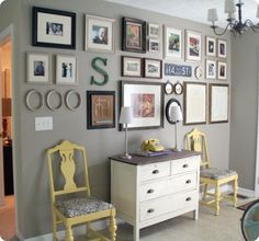 gallery wall above console table inspiration