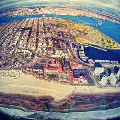 A view of Southern California from Coronado island!! <3