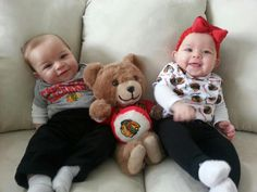 Some precious Blackhawks fans are ready for tonight's game!