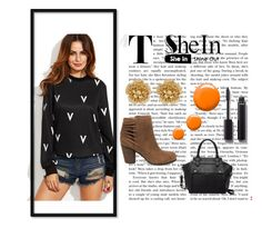"""""""Shein"""" by fashion-life4me ❤ liked on Polyvore featuring Chanel, Topshop, Steve Madden, Miriam Haskell, Pink Haley and Killin"""