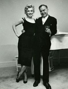 Marilyn with producer Kermit Bloomgarden, 1958.