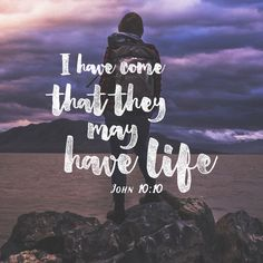 """""""The thief comes only to steal and kill and destroy; I have come that they may have life, and have it to the full."""" John 10:10 NIV http://bible.com/111/jhn.10.10.niv"""