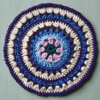 Crochet Mandala Wheel made by  Gail, West Sussex, UK, for  yarndale.co.uk