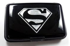 Superman New Black Business Waterproof ID Wallet Card RFID Case Holder EBI-0002