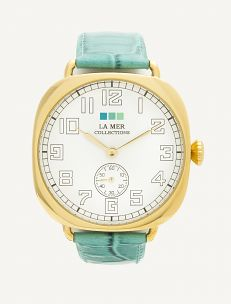 La Mer Collections - Aqua - Gold Vintage Oversize Watch #TimeToSee