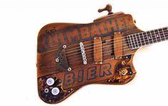 Kulmbacher Bier Gitarre mit Zapfhahn