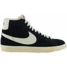 best cheap 87ff7 8dff6 Baskets montantes Nike Blazer High Suede Vintage Noir 83.58 € Nike Blazer  Femme, Chaussures Nike