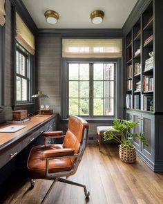 Home Library Design, Office Interior Design, Office Interiors, House Design, Office Designs, Interior Designing, Modern Interior, Home Office Setup, Home Office Space