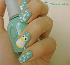 this penguin mani is SO ADORABLE