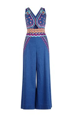 Spellbound Denim Cutout Jumpsuit by TEMPERLEY LONDON for Preorder on Moda Operandi