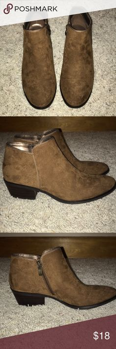X-Appeal Camel Brown Booties SZ 9 X-Appeal camel brown booties size 9. Worn one time. Excellent condition. Shoes Ankle Boots & Booties