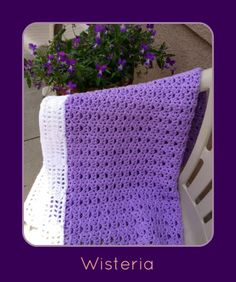 Crochet Wisteria Flower Pattern : Blankets - crochet & knit on Pinterest Baby Blankets ...