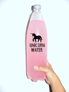 Unicorn water - pink of course!!!