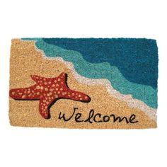 Handmade Starfish Welcome Doormat