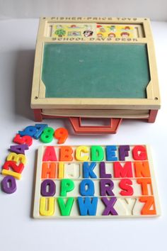 Fisher Price School Days Desk: Just looking at the picture, I shiver because I remember how it felt to scratch my nails on the chalkboard.