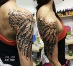 Wing tattoo on shoulder dotwork by Gleb Erve - Wing tattoo on shoulder dotwork . - Wing tattoo on shoulder dotwork by Gleb Erve – Wing tattoo on shoulder dotwork by Gleb Erve – - Wing Tattoo On Shoulder, Wing Tattoo Arm, Wing Tattoos On Back, Back Tattoo, Dream Tattoos, Future Tattoos, Sexy Tattoos, Body Art Tattoos, Tattoos For Women Half Sleeve
