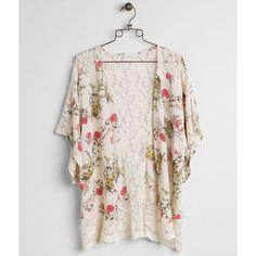Coco + Jaimeson Floral Cardigan ($35) ❤ liked on Polyvore featuring tops, cardigans, cream, kimono cardigan, floral chiffon cardigan, floral cardigan, floral tops and chiffon kimono