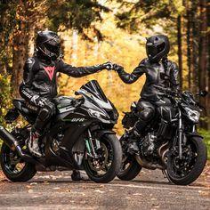 Likes, 57 Comments - 🇨🇭 swiss bikergirl 🇨🇭 ( on. Motorcycle Couple Pictures, Biker Couple, Biker Love, Biker Girl, Bajaj Motos, Motorbikes Women, Ride Out, Bike Photoshoot, Motorcycle Photography