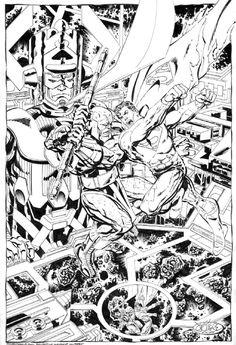 Superman vs Terrax by John Byrne comic company Comic Book Artists, Comic Book Characters, Comic Books Art, Comic Art Fans, Comic Frame, Superhero Coloring, John Byrne, Superhero Design, Comic Covers