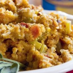Apple Cornbread Stuffing, my favorite. I don't add the sausage though