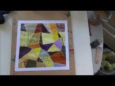 ▶ Acrylmalerei Techniken Farbrhythmus mit 3 Farben + Schwarz u Weiß - YouTube