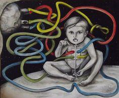 painting by Svetlana Smaznova, via Behance