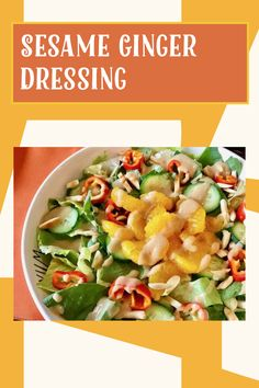 Vegan Gluten Free, Gluten Free Recipes, Sesame Ginger Dressing, Salad Toppings, Recipe Ratings, Dressing Recipe, My Recipes, Food Print, Kitchens