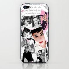 Audrey... iPhone & iPod Skin by Christine Workman   Society6