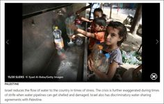 MSN News Promotes Anti-Israel Water Libel | HonestReporting.Another example from the USA,of dishonest and inaccurate reporting of the water situation in Palestinian territories.Guess who gets blamed for the problems?