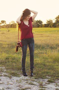 Free People Inspired: DIY Embroidered Jeans   Sprinkles in Springs